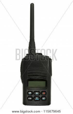 Cb Radio Isolated On The White Background