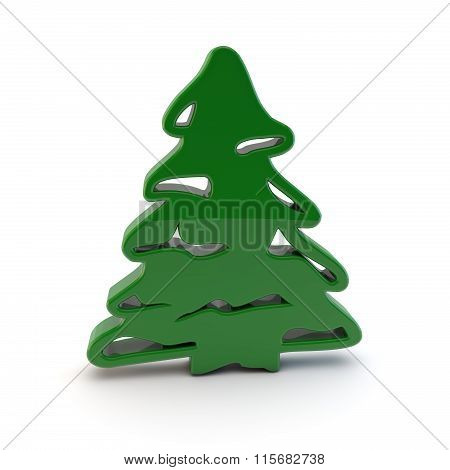 3D Christmas Tree Symbol