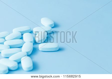 Blue Medicine (painkiller) On Blue