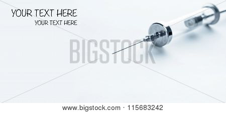 Old Glass Multiple Use Syringe With Needle