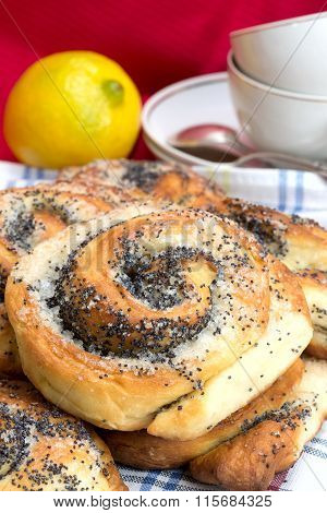 Bun With Poppy Seeds For Tea