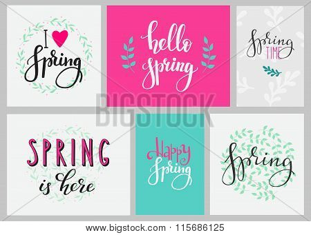 Hello Spring Typography Set
