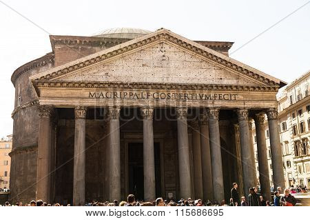 Pantheon Rome During The Day