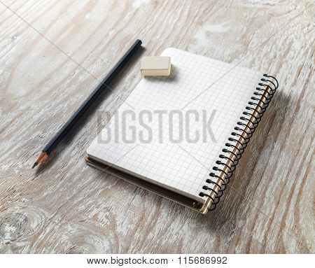 Blank Notepaper With Pencil