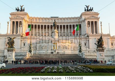 Piazza Venezia And Vittoriano Emanuele Monument