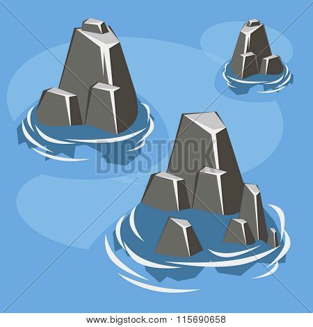Sea rock island