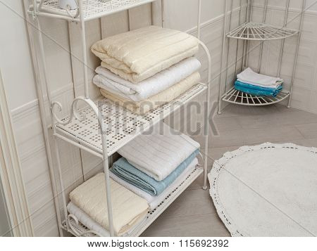Bathroom Towels On The Shelves