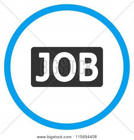 Job Text Circled Icon