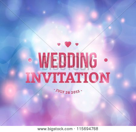 Wedding card or invitation with abstract background