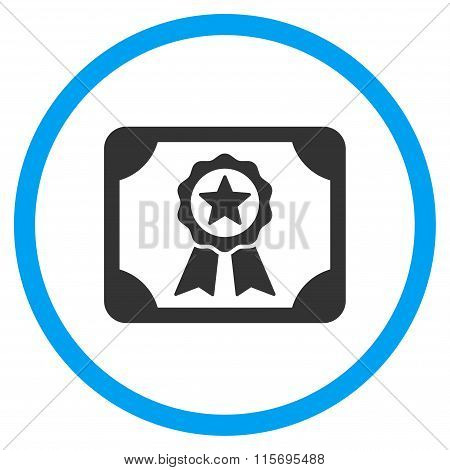 Certificate Rounded Icon