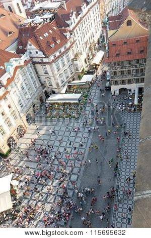 Aerial View Of  Old Town Square - Prague