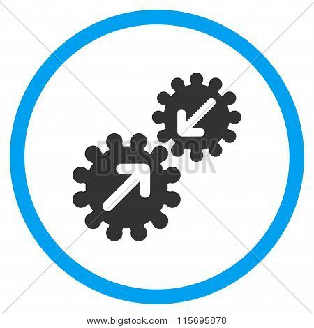 Gears Integration Circled Icon