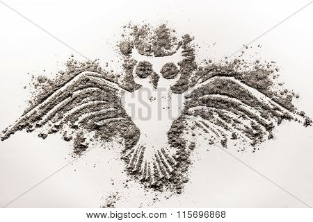 Flying Owl Made Of Ash