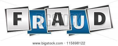 Fraud Blue Grey Blocks