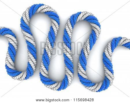 Rope. Image with clipping path