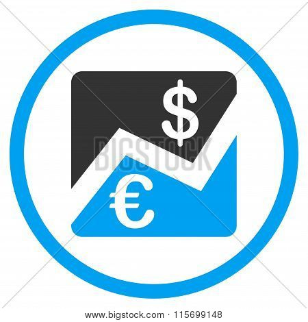 Euro And Dollar Finance Rounded Icon