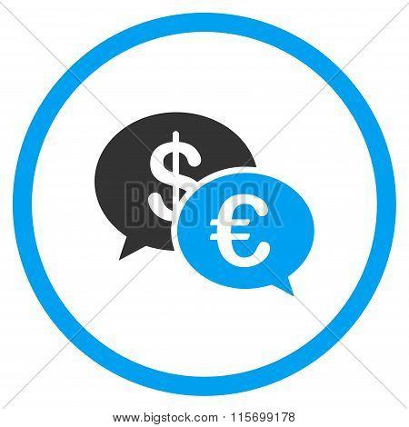 Euro And Dollar Transactions Circled Icon
