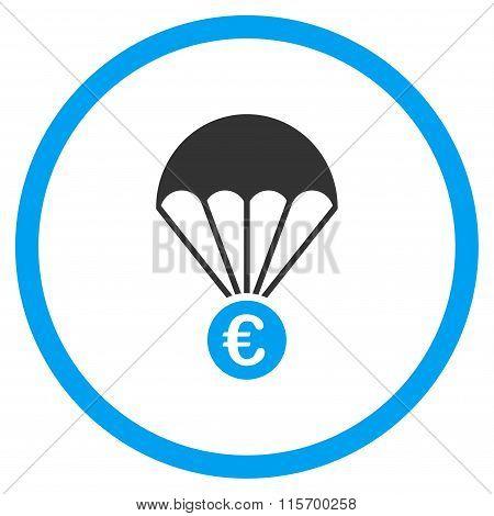 Euro Parachute Rounded Icon