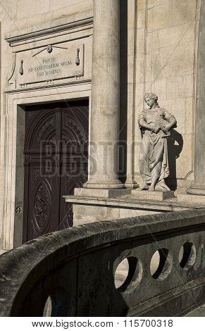 A Statue Of The Church Of Saint Francis, Igreja S. Francisco, In Porto, Portugal