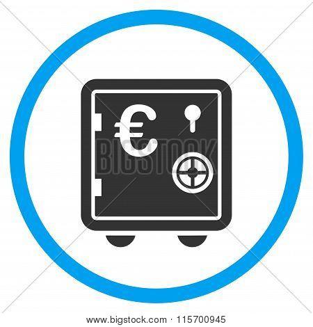 Euro Banking Safe Rounded Icon
