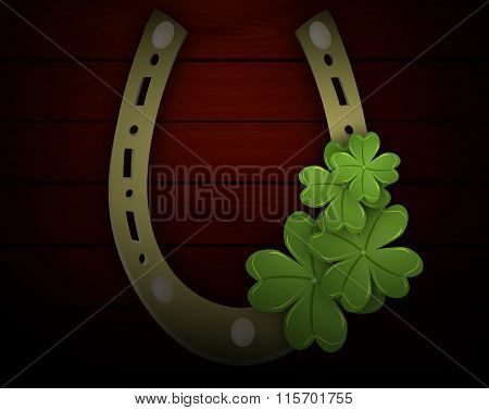 Four-leaf Clover In The Horseshoe