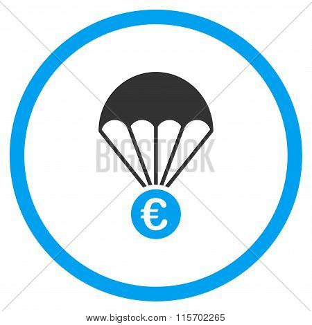 Euro Parachute Circled Icon
