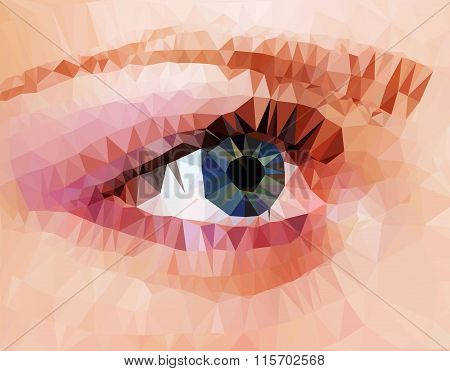 Human eye from triangles