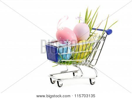 Easter shopping cart