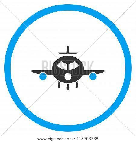 Cargo Aeroplane Circled Icon