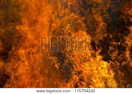 Outdoor Burning Fire And Open Flame