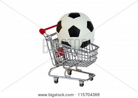 Toy Shopping Trolley With Soccer Ball