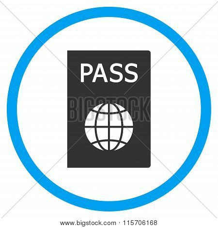 Passport Rounded Flat Icon