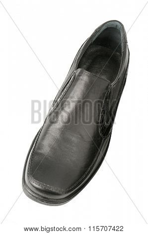 black shoes isolated on white