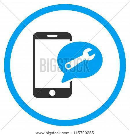 Service SMS Rounded Icon