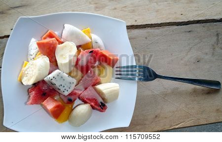 Colorful Summer Fruit Platter