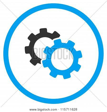 Gears Rounded Icon