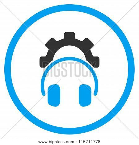 Headphones Configuration Rounded Icon