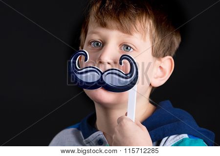 Boy With Mustache Prop