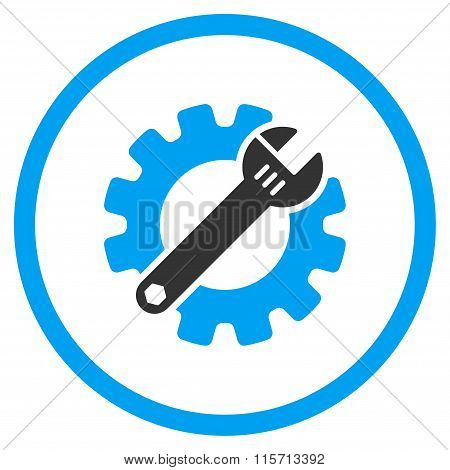 Service Tools Rounded Icon