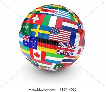 World Flags International Business Globe