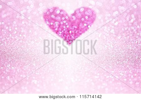 Pink Sparkle Glitter Heart Party Invite