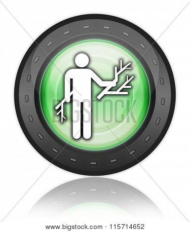 Icon, Button, Pictogram Wood Gathering