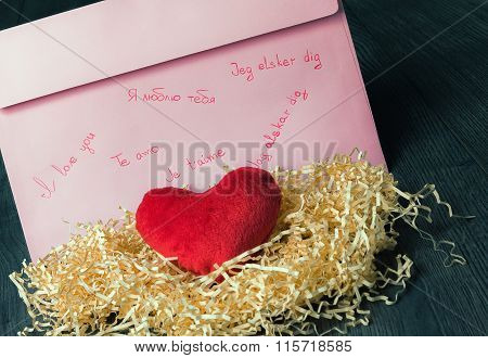 Written Declaration Of Love And Heart
