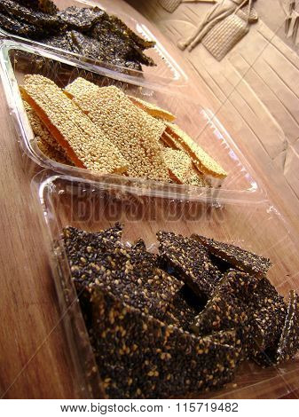 Sweet sesame brittle