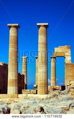 Columns ancient temple