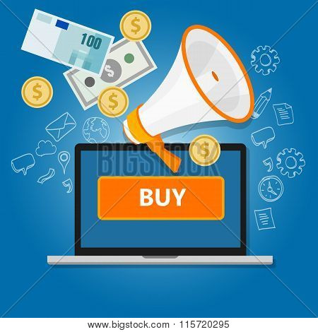 payment click to buy online transaction money commerce internet sales