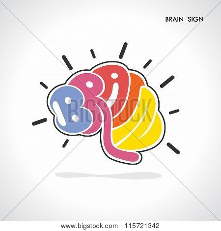 Brain Sign,brain Logo,mine,creative,learning Logo,eduction Logo,school,kids,arts Vector Logo.