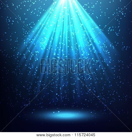 Abstract Background With Rays Of Light