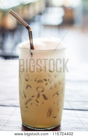 Iced Green Tea With Microfoam