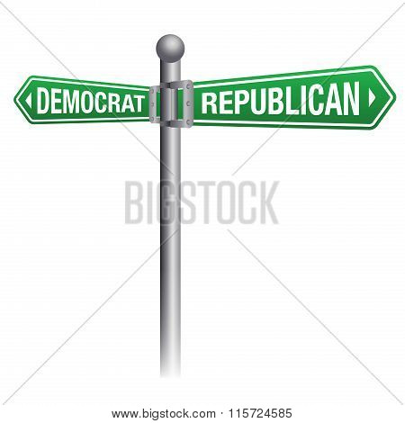 Democrate Versus Republican Theme